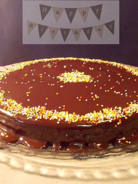 Κέικ σοκολάτας με γκανάζ / Chocolate cake with ganache