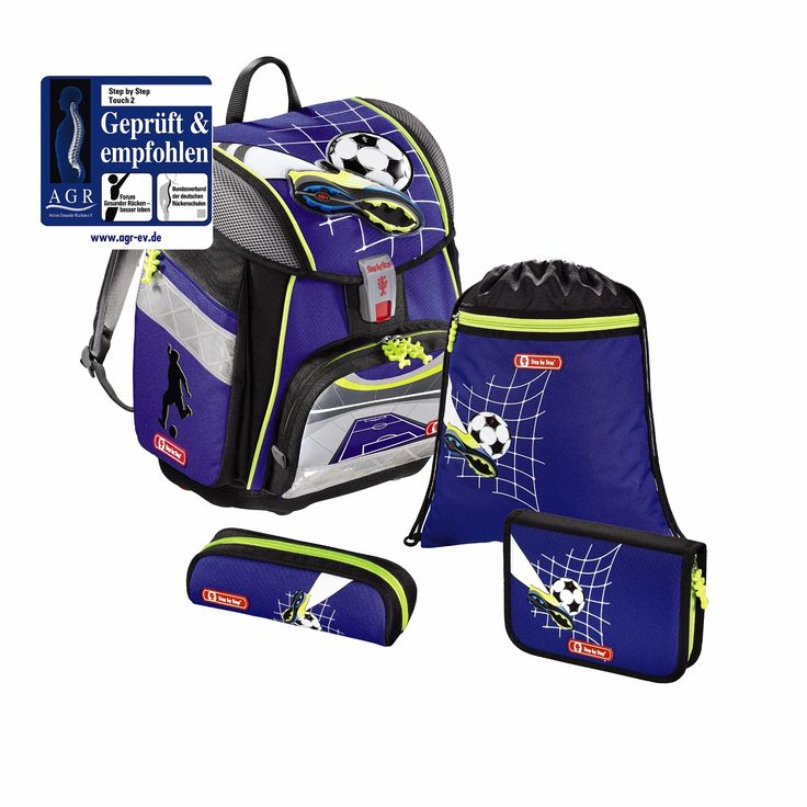 Step by Step Touch 2 Schulranzen-Set,4-teilig *Limited Edition* Soccer Team
