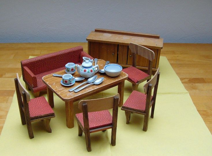 2143 best Doll Housesand dollhouse furniture images on - esszimmer 50er