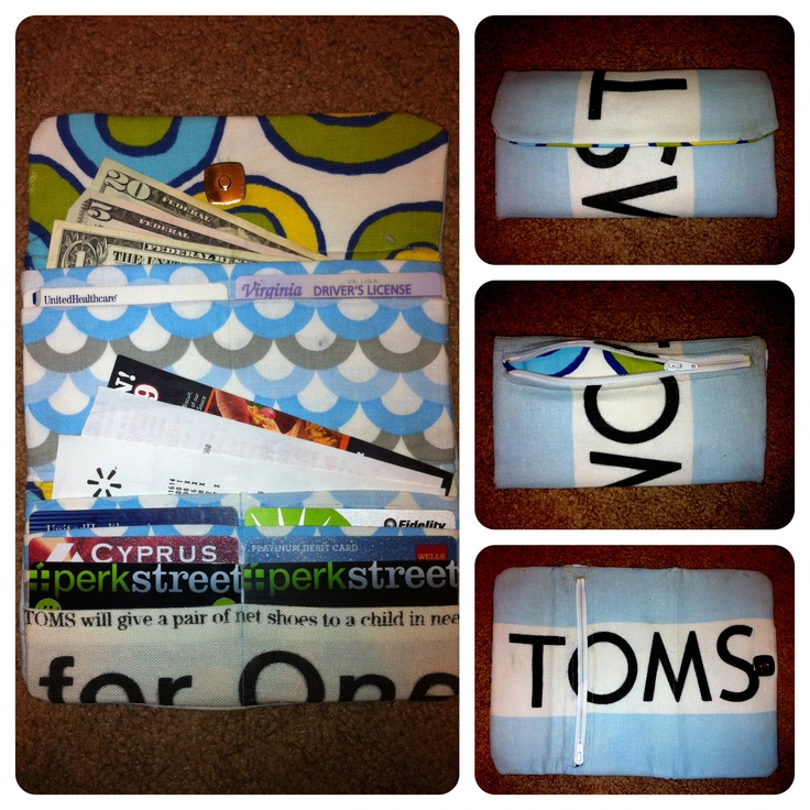 I made a wallet out of a TOMS flag. :)