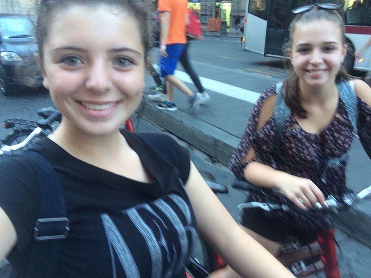 Woensdag 7 oktober Samen met Laura tijdens de fietstocht door Rome