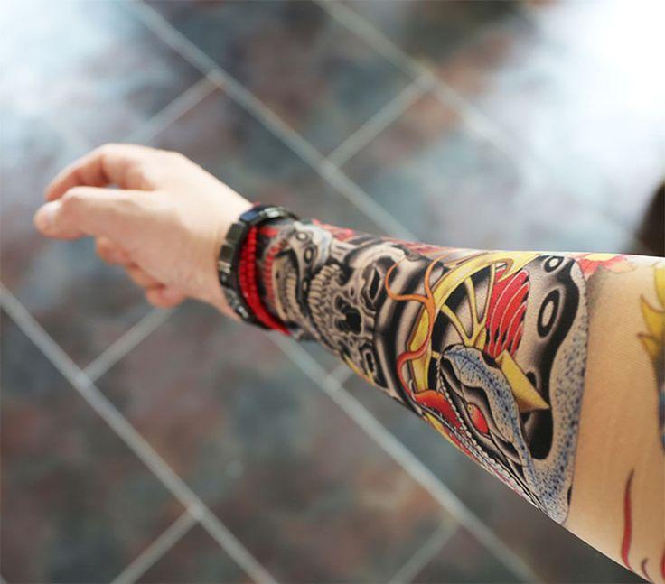 Premium tattoo sleeve fake realistic tattoo sleeve skull