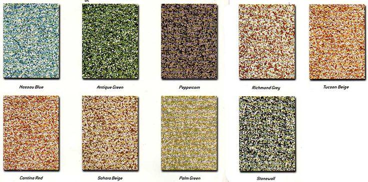 Tabelas de cores de epóxi granuladas, de padrão arenito. Essas tintas simulam o padrão do arenito na pintura de pisos e azulejos