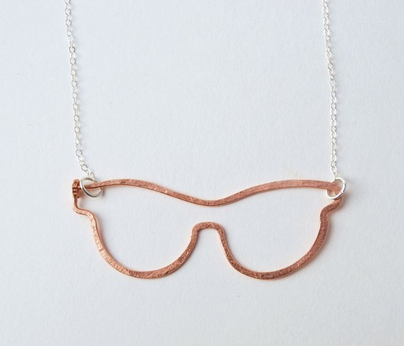 Rose Glasses Necklace  by Make Pie Not War