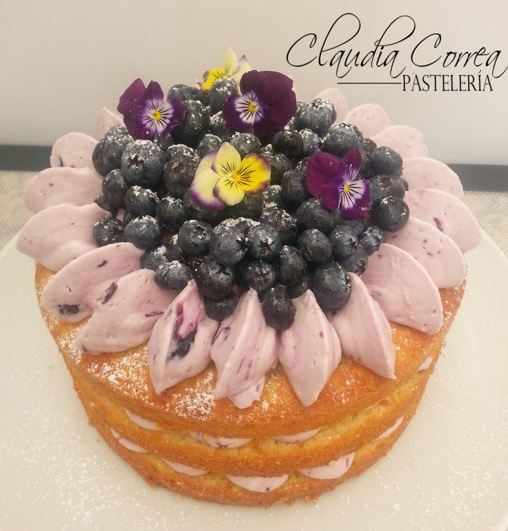 Winter cake...cake de yogurt con nuestra deliciosa crema de blueberries