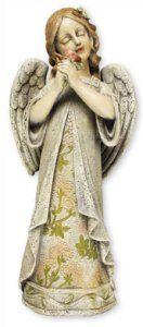 Standing Angel Graveyard Memorial Statue.