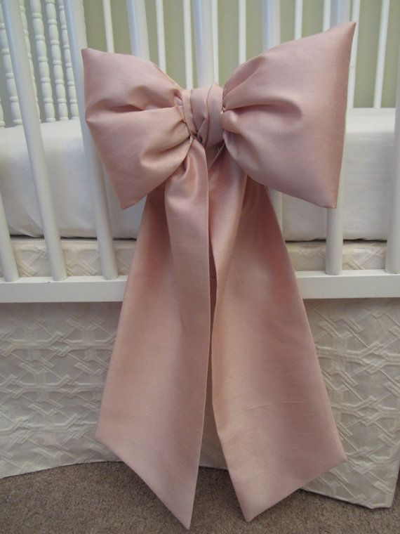 Crib Bows: neutral baby bedding crib by RubyBegoniaNurseries
