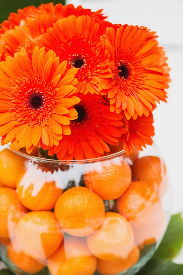 17 best ideas about orange centerpieces on pinterest for Fruit orange decoration