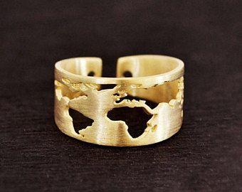 Ring reizen / cadeau voor vrouwen / Wanderlust / vader van dag