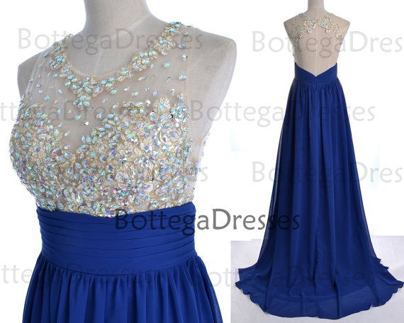 Royal Blue Prom Dresses 2014 Prom Gown Straps by BottegaDresses, $169.00