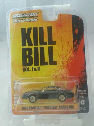 Greenlight-Hollywood-series-10-1-64-die-cast-car-Kill-Bill-1979-Pontiac-firebird