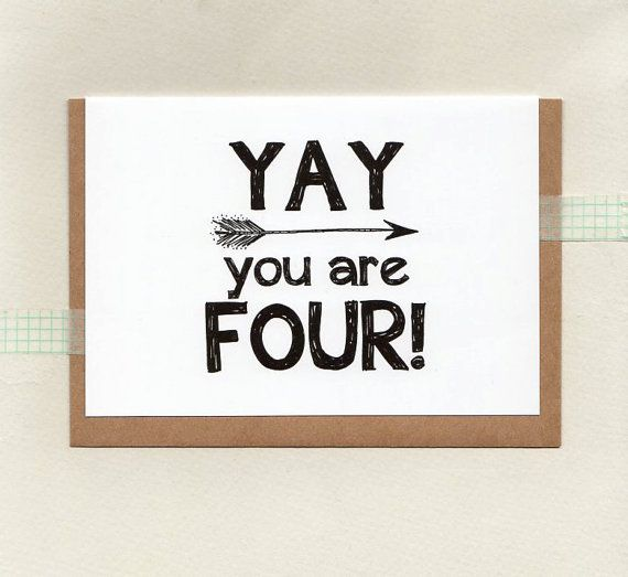 YAY you are FOUR or choose another age . kids by ThePaisleyFive