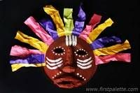 African Paper Plate Mask