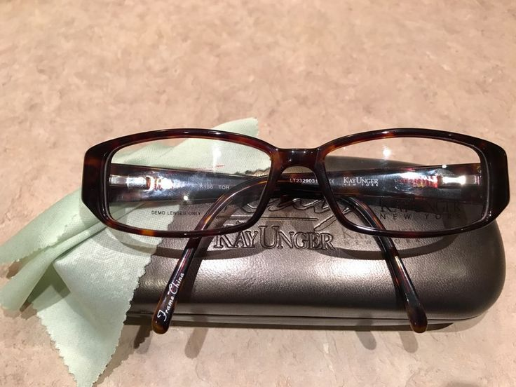 KAY UNGER EYE GLASSES FRAME K158 Tortoise W/ STONES 54-15-135 NEW & AUTHENTIC #KAYUNGER