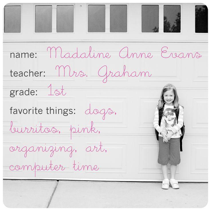 Katie Evans Photography: Fun idea to start each school year...