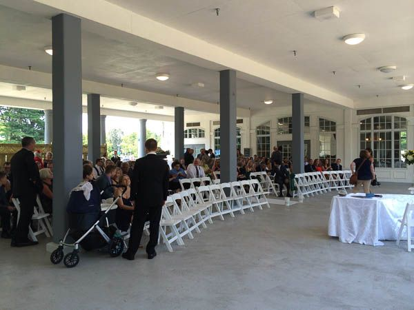 Covered Wedding Ceremony area at Geraldos at La Salle Park