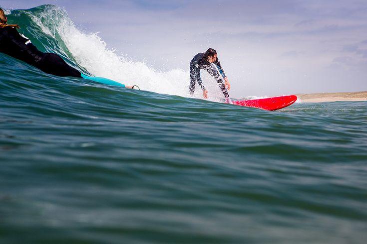 Surfkurs in St girons plage, Frankreich #surfcamp #wavetours #stgirons