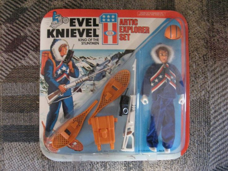 Character 723: 1975 Ideal Evel Knievel Arctic Explorer Set Action Figure Sealed Unpunched -> BUY IT NOW ONLY: $65 on eBay!