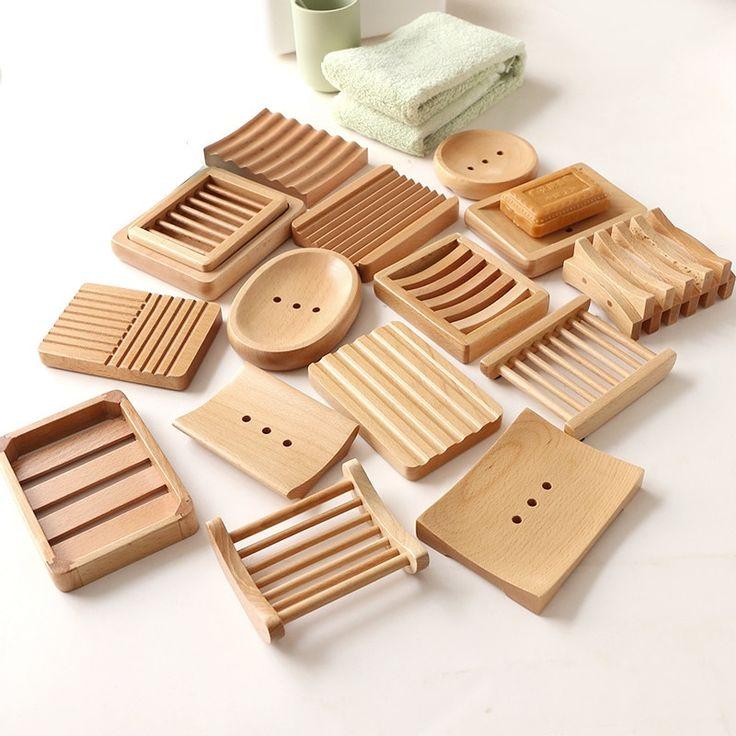 Wooden Soap Box Stand Bathroom Handmade Soap Rack
