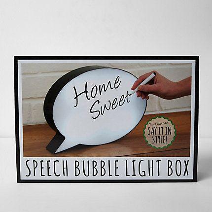 Speech bubble light box