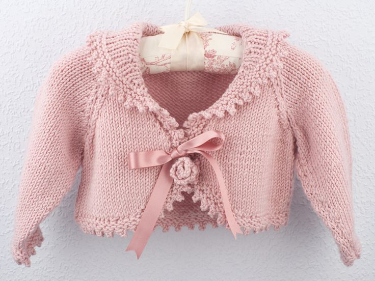 Rose Bolero With Collar - Pretty in Pink - Blue Stripes - Glamorous & Gorgeous Gifts...Reduced from £60 to £35...