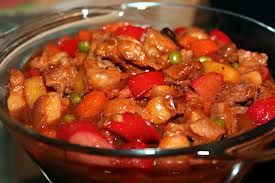 Menudo is a pork stew along with different savory spices and vegetables and served mostly on special occasion. Check out our pork menudo recipe.