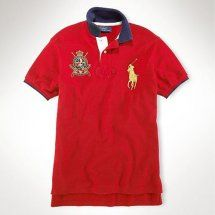 ralph lauren custom-fit crest no 2 polo big pony in rosso.Ralph Lauren 39d644d5926