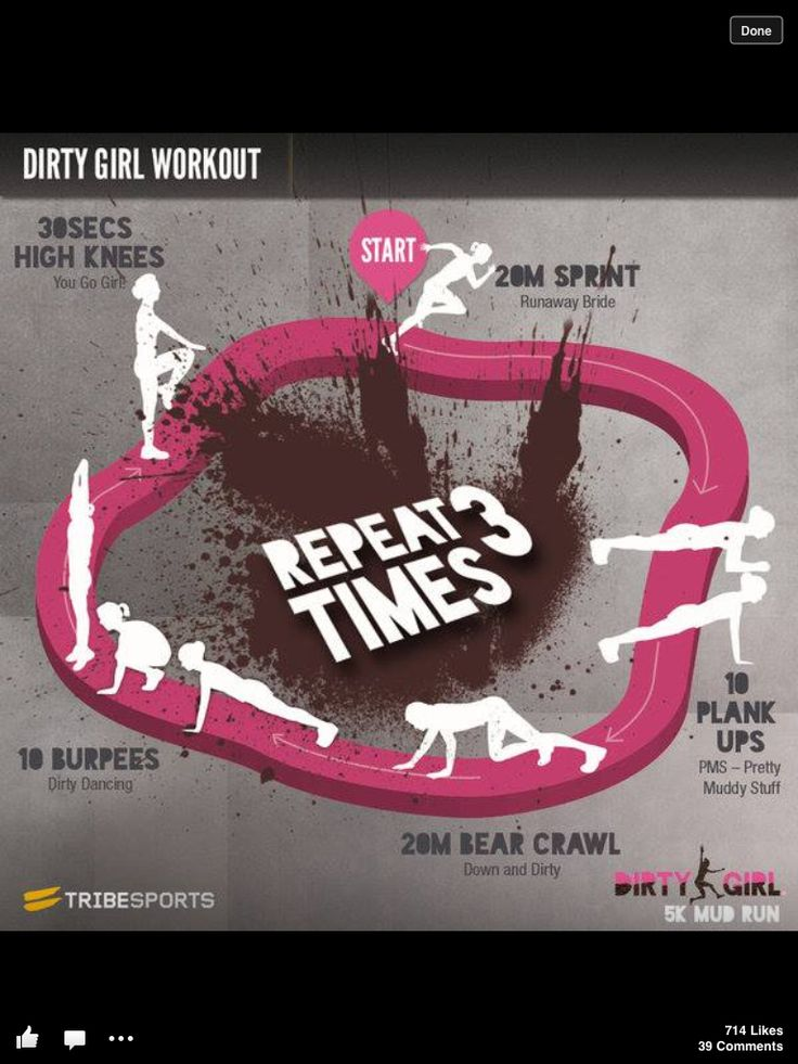 Workout to train for Mud Run.
