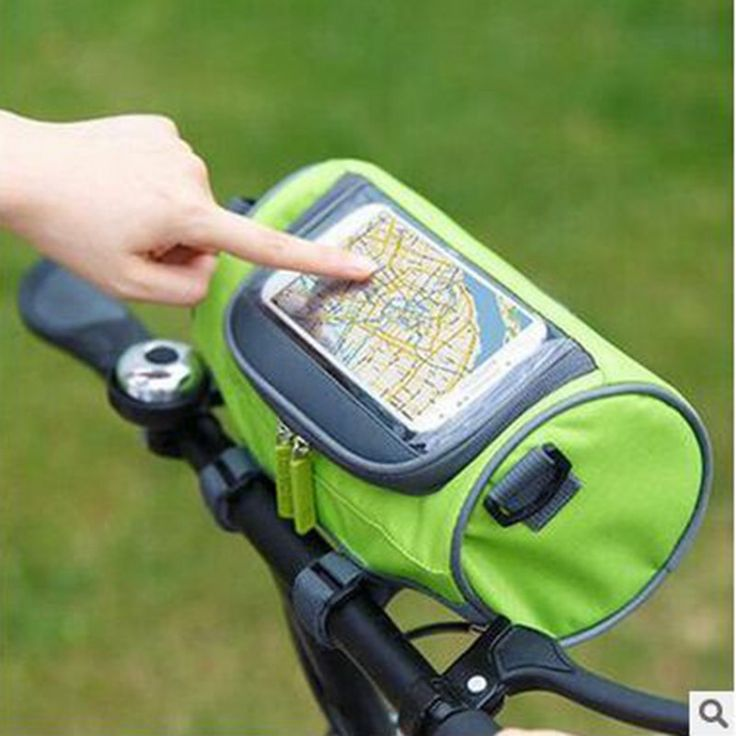 2017 new bicycle handlebar charter head touch screen mobile phone Mountain bike accessories ride my stuff organizer storage bag