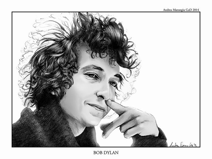 #BobDylan #portrait #illustration created by #AndreaMarongiu, #pencils on paper and #digitalpainting on #grayscale; commissioned by local #Boteco in #Bologna #rock #music #drawing #pencil #art #artist #musician #hair #hands #illustrations