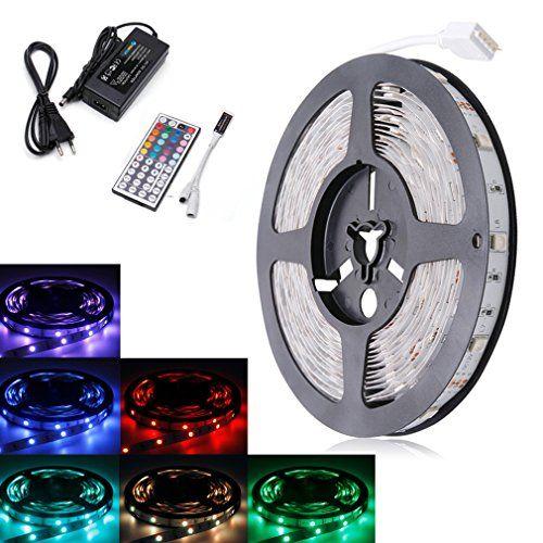 Sale Preis: Auralum® 5M RGB SMD 5050 LED Streifen Strips Leuchtband 30 LEDs/m IP20 + 44 Tasten Fernbedienung Dimmer + Trafo. Gutscheine & Coole Geschenke für Frauen, Männer & Freunde. Kaufen auf http://coolegeschenkideen.de/auralum-5m-rgb-smd-5050-led-streifen-strips-leuchtband-30-ledsm-ip20-44-tasten-fernbedienung-dimmer-trafo  #Geschenke #Weihnachtsgeschenke #Geschenkideen #Geburtstagsgeschenk #Amazon