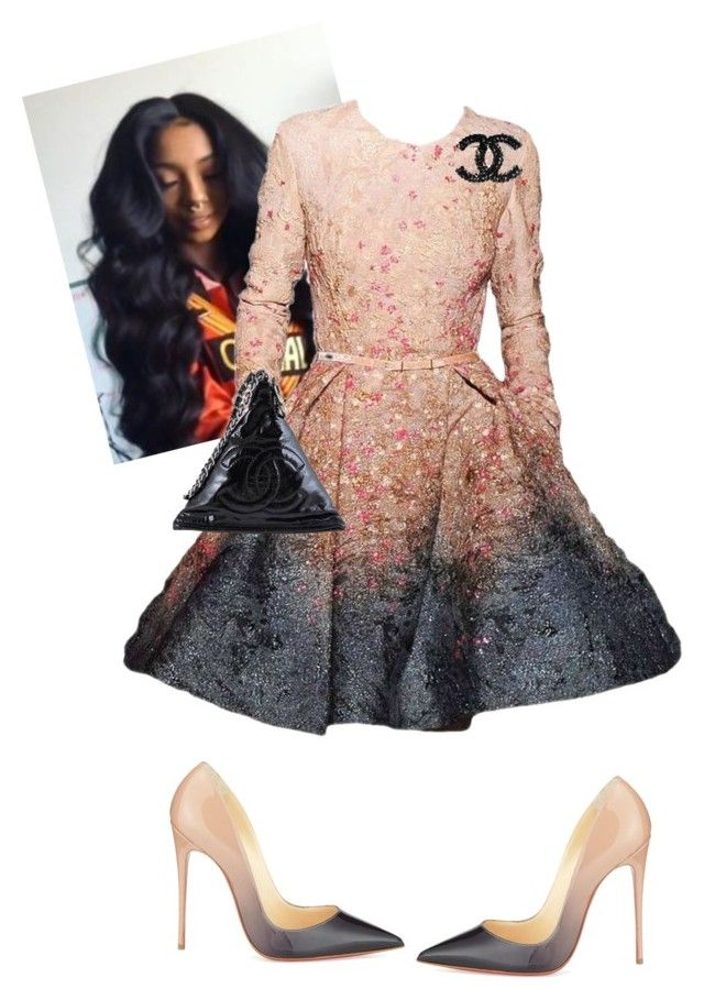 """""""C.O.G.I.C"""" by cogic-fashion on Polyvore featuring Elie Saab, Christian Louboutin and Chanel"""