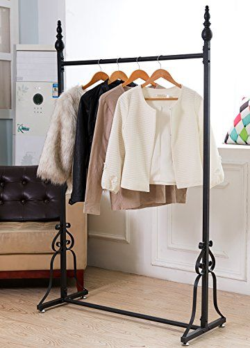Buy Vintage Style Metal Garment Rack, Freestanding Retail Single Rod Clothing Hanging Display Stand - Topvintagestyle.com ✓ FREE DELIVERY possible on eligible purchases
