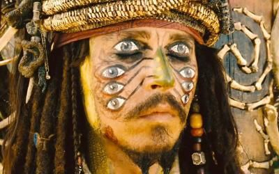 maquillage yeux jack sparrow