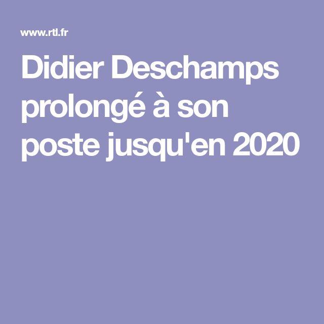 Didier Deschamps prolongé à son poste jusqu'en 2020
