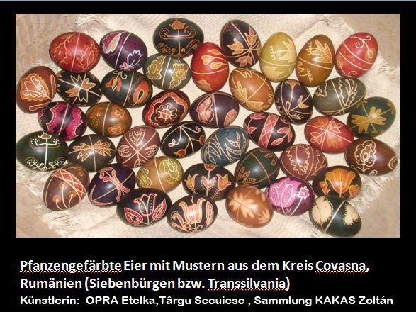 Mit Pflanzenfarben gefärbte Ostereier, OPRA Etelka aus Târgu Secuiesc