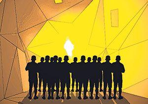 Favilla, a light installation by artist Attilio Stocchi