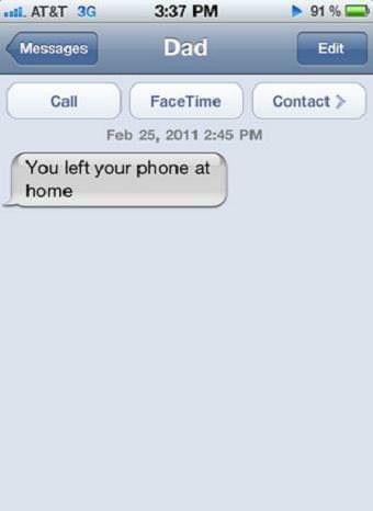 Thanks dad.