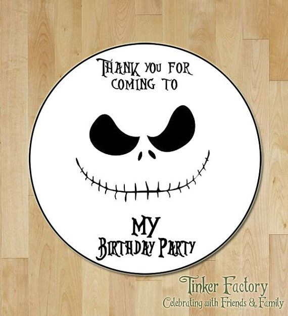 INSTANT DOWNLOAD The Nightmare Before Christmas Birthday Party Favor Tag / Label…