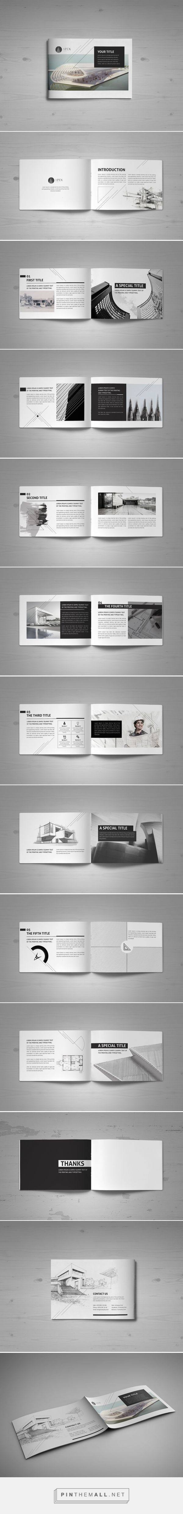Minimal Modern Black & White Architecture Brochure  on Behance - created via…