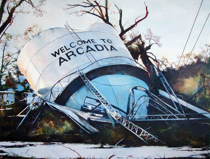 """My favourite painting by my good friend David.    """"Welcome to Arcadia"""" by David Janzen. Oil on canvas, 6' x 8' 2007"""