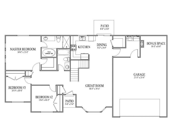 I Like This Floor Plan Floor Plans Rambler House Plans House Floor Plans