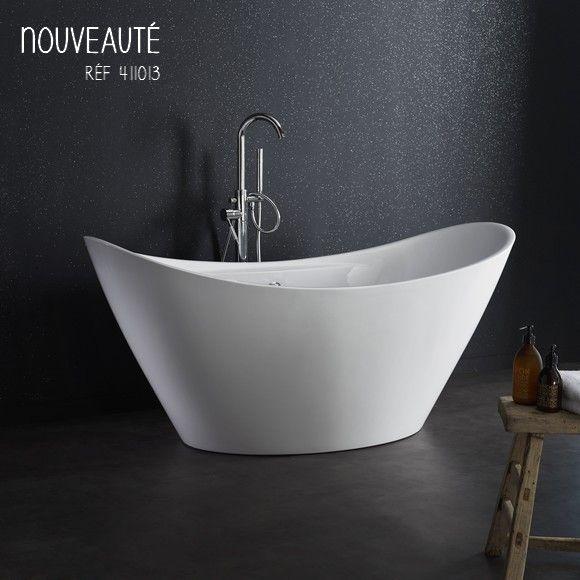 Craquez pour cette superbe baignoire au style empire ! #salledebain #baignoire #planetebain