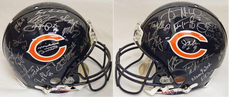 1985 Chicago Bears Team Signed Chicago Bears ProLine Authentic Riddell Helmet - Schwartz COA