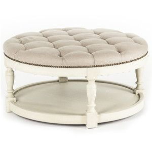 Cosmo Tufted Round Ottoman