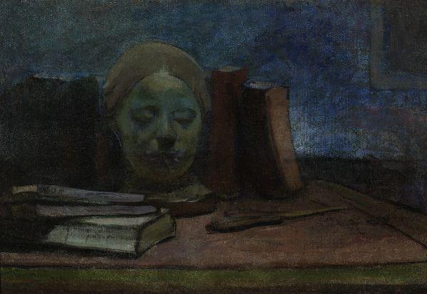 Maska i książki - Władysław Ślewiński