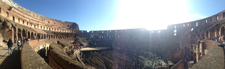Panoramic view inside the Colosseum