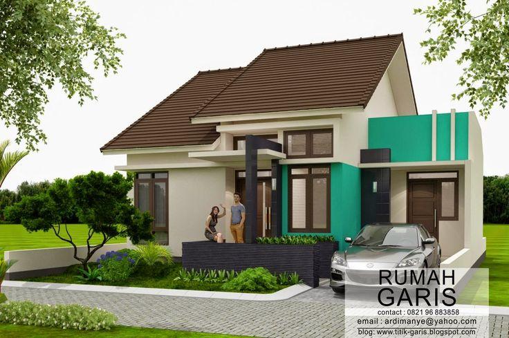 Rumah mungil tipe 60 m2 di lahan sudut ukuran 10x15 meter dengan konsep modern minimalis dipresentasikan dalam kualitas photorealistic agar ...