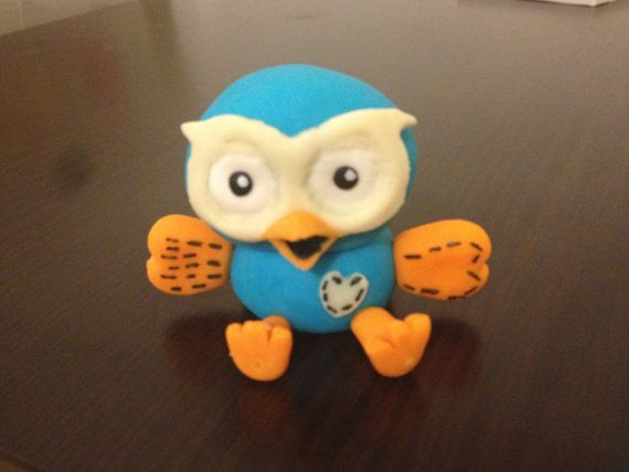 HOOT  GIggle And Hoot cake edible fondant by DebsSweetToppers, $20.00