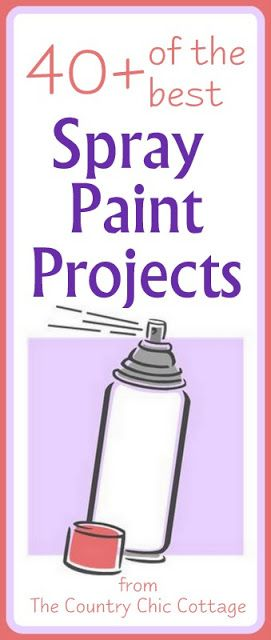 Spray Painted Projects ~ * THE COUNTRY CHIC COTTAGE (DIY, Home Decor, Crafts, Farmhouse)